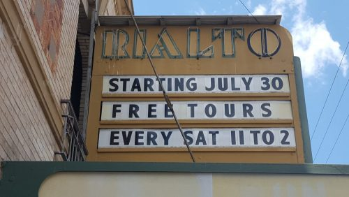 Free Tours at the Rialto Theater on Saturdays from 11am to 2pm