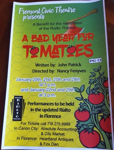 A Bad Year for Tomatoes Playbill
