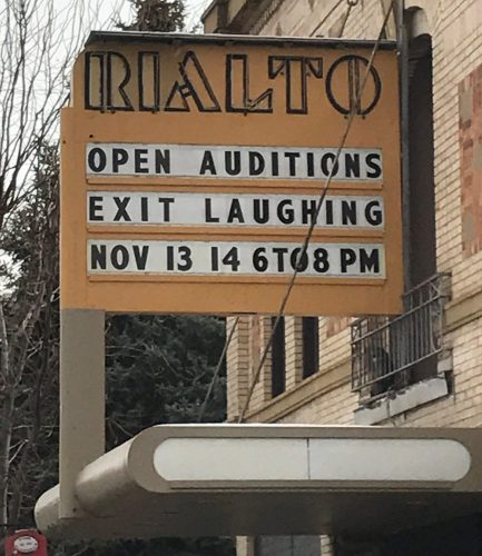 Open Auditions for Exit Laughing