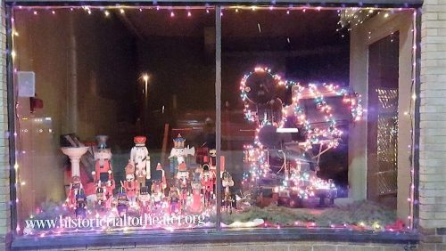 Christmas window at the Rialto Theater