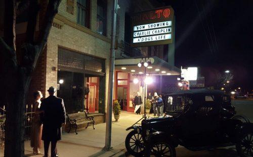 Rialto Theater Re-enactment Film Scene