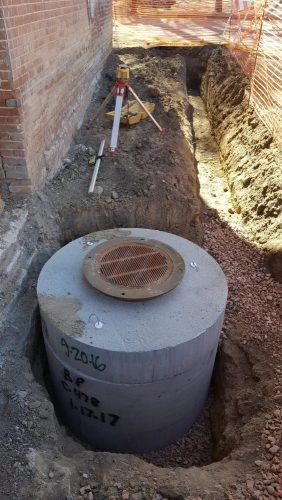 drainage tank install