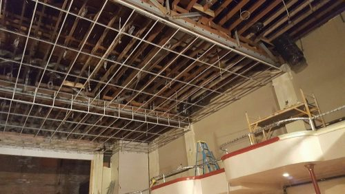 Frame work for drop ceiling