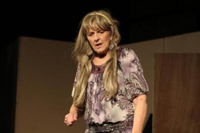 Jane Ann Carver rehearsing