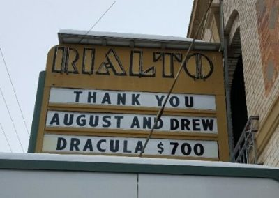 Marquee:Thank You August and Drew Dracula $700