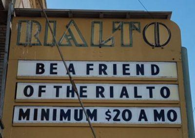 Marquee:Be a Friend of the Rialto Minimum $20/mo