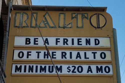 Donate to the Rialto by becoming A Friend of the Rialto