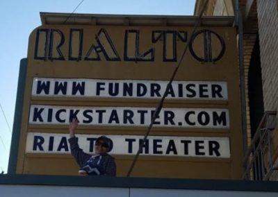 Marquee:www.Fundraiserkickstarter.com Rialto Theater