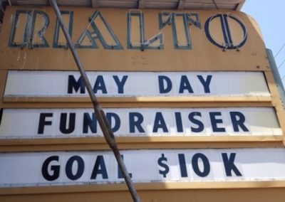 Marquee:May Day Fundraiser Goal $10k