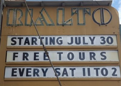 Marquee:Starting July 30 Free Tours Every Sat 11 to 2