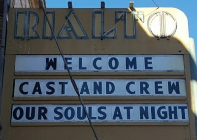 Marquee:Welcome Cast and Crew Our Souls At Night