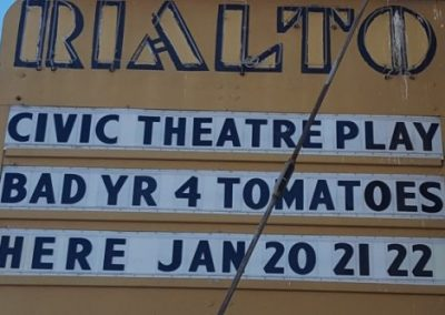 Marquee:Civic Theater Play, Bad Yr 4 Tomatoes, Here Jan 20 21 22
