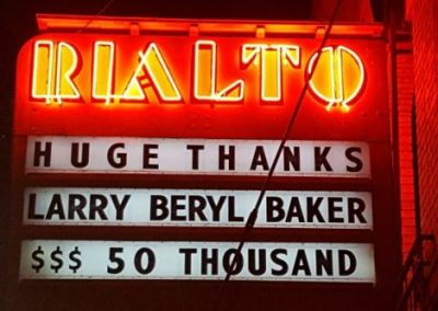 Marquee:Huge Thanks, Larry Beryl Baker $$50 Thousand