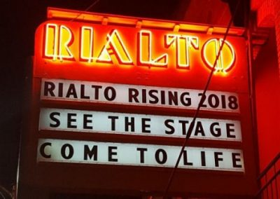 Marquee:Rialto Rising 2018, see the stage come to life