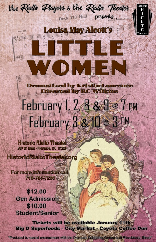 Little Women-by Louisa May Alcott- event poster