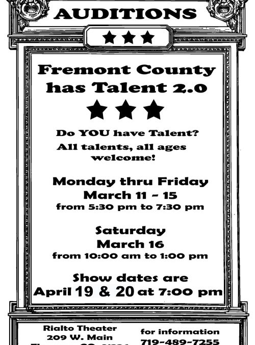 Fremont County Has Talent II Auditions