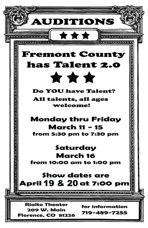 Fremont County Has Talent 2.0 Auditions