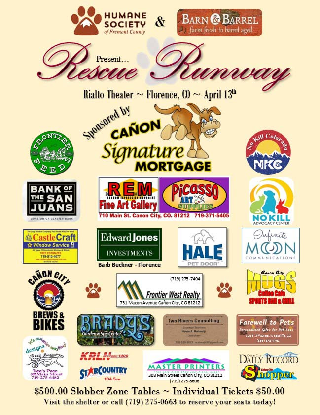 Rescue Runway fundraiser presented by Fremont County Humane Society