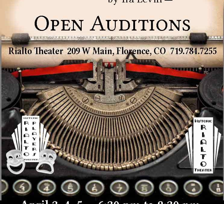 """DeathTrap"" Open Auditions"