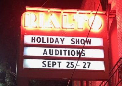 Marquee: Holiday Show Auditions Sept 25-27