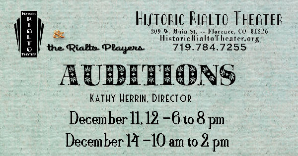 February 2020 production auditions