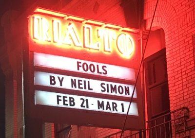Marquee: Fools By Neil Simon Feb 21-Mar 1