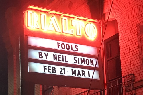 Marquee: Fools By Neil Simon Feb 21-Mar 1
