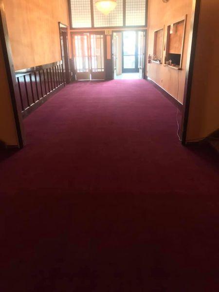 New carpet in lobby