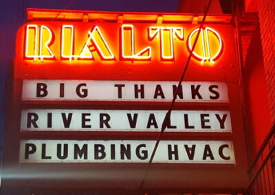Marquee: Big Thanks RIver Valley Plumbing HVAC