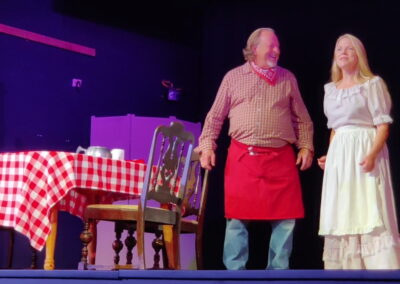 Pop and Kandy Korn, played by Paul Pedtke and Audra Paulin