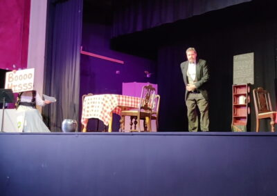 Russell Sprouts - played by Patrick Mulready, mistress of ceremonies Kathy Splitgerber