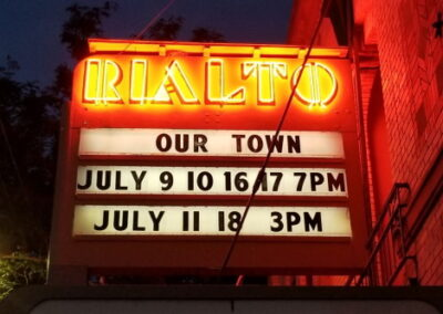 Marquee: Our Town July 9 10 7pm, July 11, 16 3pm