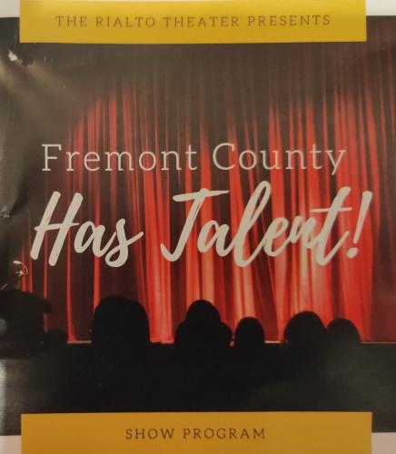 Fremont County Has Talent Show Program 2021