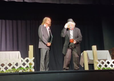 Stage Manager and Sharon Herrera as Prof Willard