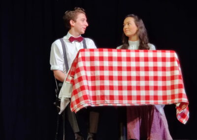 George and Emily falling in love at the Soda Shop