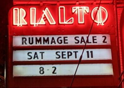 Marquee: Rummage Sale 2, Sat Sept 11 8-2
