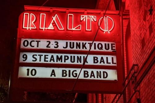 Marquee: Oct 2-3 Junktique, 9 Steampunk Ball, 10 Big Band