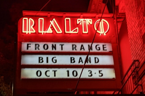 Marquee: Front Range Big Band Oct 10 3-5